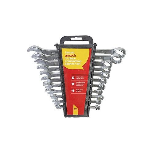 Am-Tech 11pc Combination Spanner Set With Rack | DIY Bargains