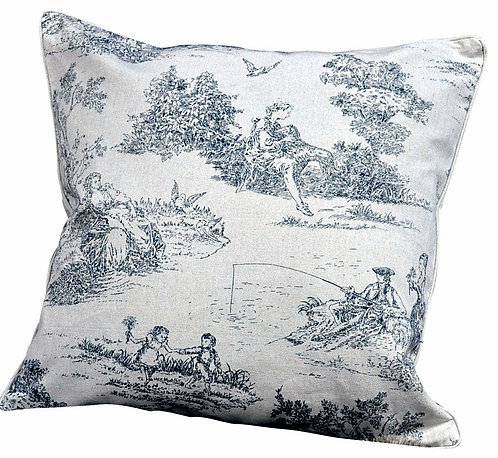 Grey Cushion (Greece Design) 45cm x 45cm Shipping furniture UK