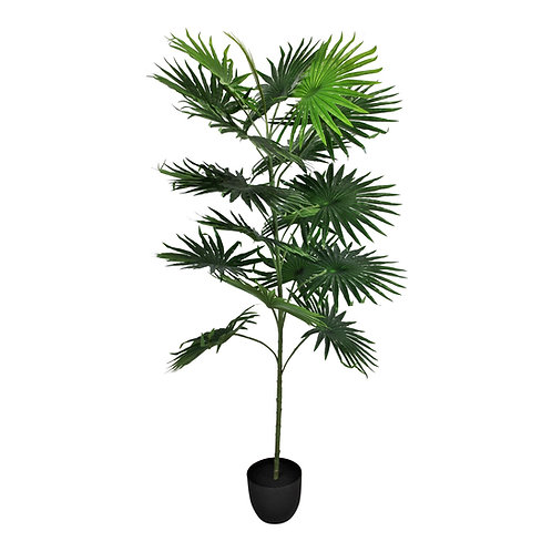 Artificial Fan Palm Tree with 18 leaves, 160cm Shipping furniture UK