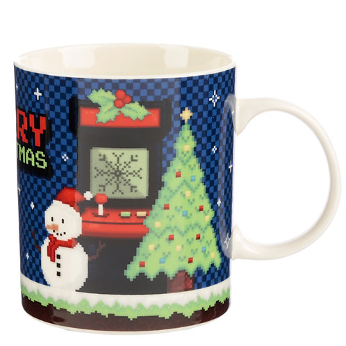 Christmas New Bone China Mug - Retro Gaming Game Over Novelty Gift