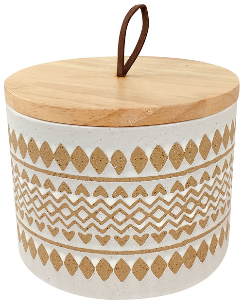 Zig Zag Pot With Lid 15cm Shipping furniture UK