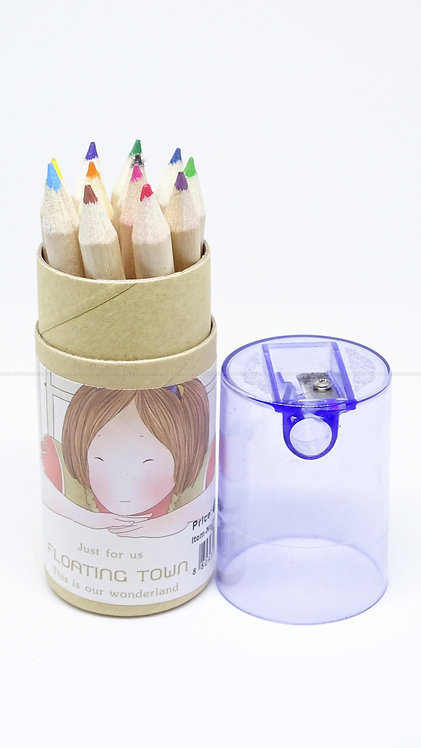 School Accessories 12 Colours and Sharpener