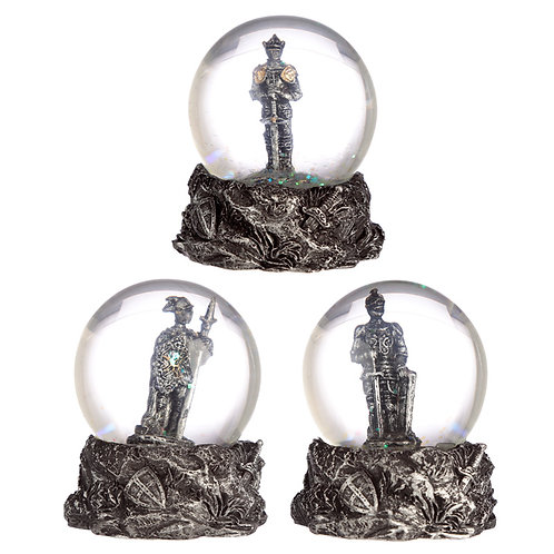 Novelty Collectable Knight Snow Globe Gift