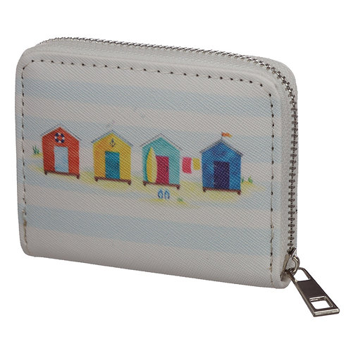 Small Zip Around Wallet - Seaside and Beach Portside Novelty Gift