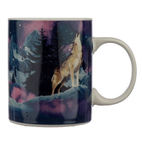 Collectable Porcelain Mug - Protector of the North Wolf Novelty Gift