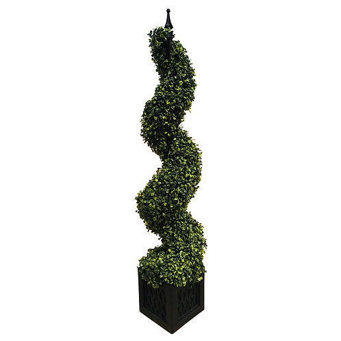 Artificial 120cm Boxwood Spiral Tower Shipping furniture UK