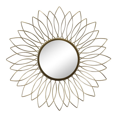 Gold Wire Flower Design Accent Mirror Shipping furniture UK