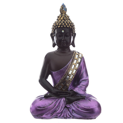 Decorative Purple and Black Buddha - Contemplation Novelty Gift