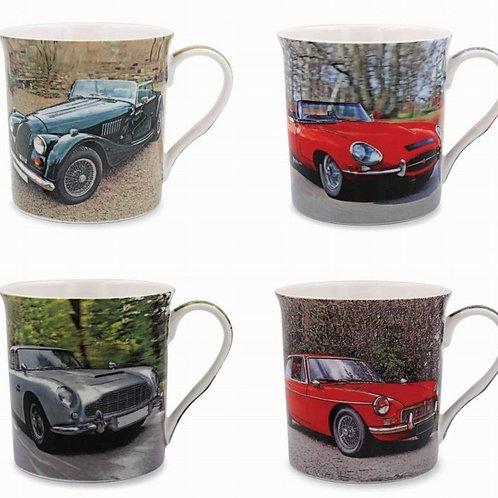 Set of 4 Car Mugs Shipping furniture UK