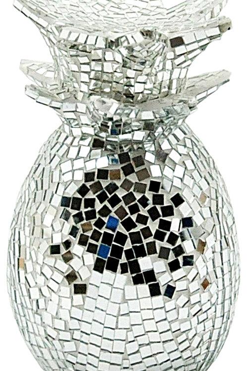 Silver Mosaic Pineapple 30cm Shipping furniture UK
