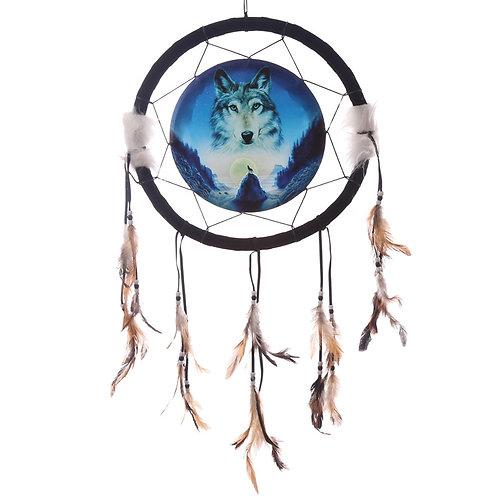 Decorative Cosmic Wolf Spirit in the Sky 34cm Dreamcatcher Novelty Gift