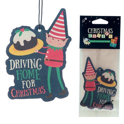 Christmas Elf Christmas Cake Scented Air Freshener Novelty Gift