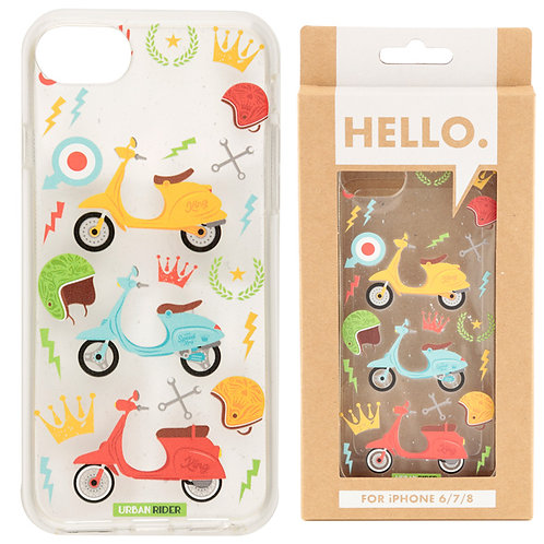 iPhone 6/7/8 Phone Case - Retro Scooter Design Novelty Gift