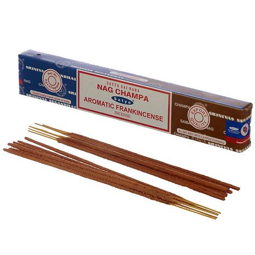 Satya Incense Sticks - Nag Champa & Aromatic Frankincense Novelty Gift