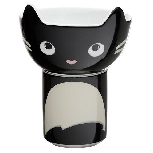 Children's Porcelain Mug and Bowl Set - Feline Fine Cat Novelty Gift