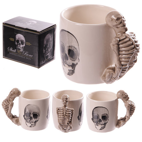 Novelty Skeleton Design Shaped Handle Mug Novelty Gift
