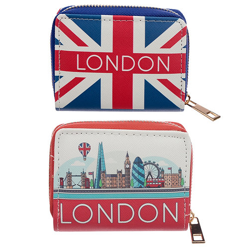 Small Zip Around Wallet - London Icons Novelty Gift