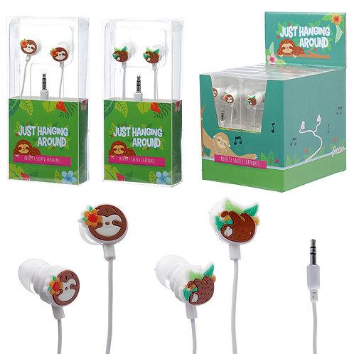 Funky Earphones - Sloth Design Novelty Gift
