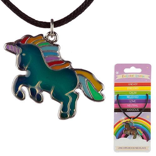 Cute Kids Unicorn Mood Necklace Novelty Gift
