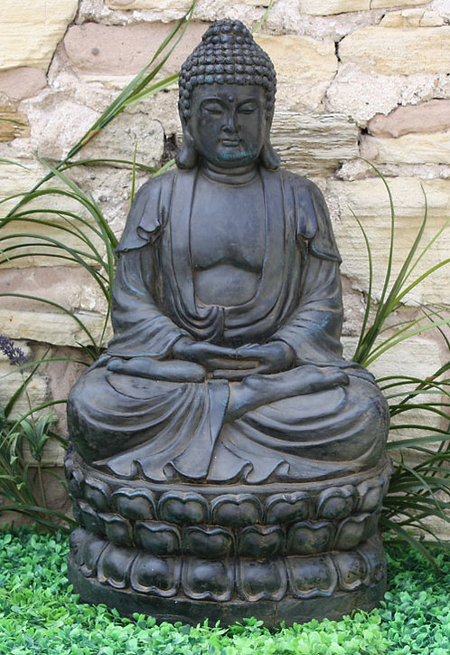 Meditating Sitting Buddha Large Statue Shipping furniture UK