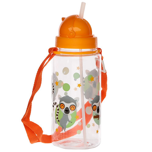 Fun Lemur Mob 450ml Childrens Water Bottle Novelty Gift