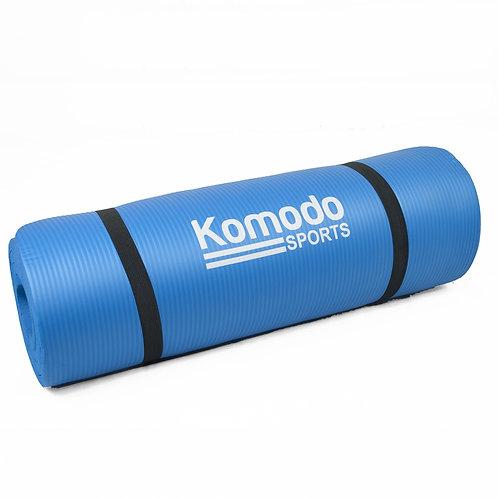 15mm Yoga Exercise Mat - Blue | Home Essentials UK
