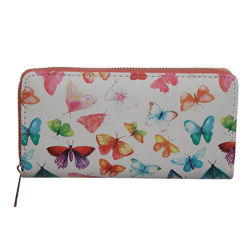 Small Zip Around Wallet - Butterfly House Novelty Gift