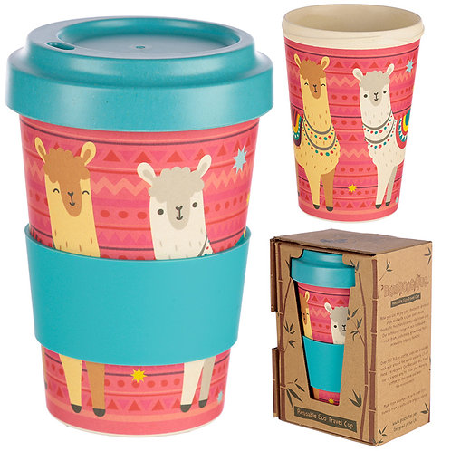 Bamboo Composite Llama Travel Mug Novelty Gift