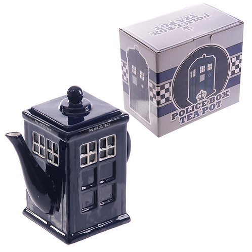 Novelty Police Box Shaped Teapot Novelty Gift
