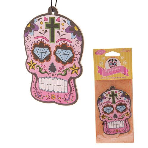 Cherry Fragranced Candy Skull Day of the Dead Air Freshener Novelty Gift