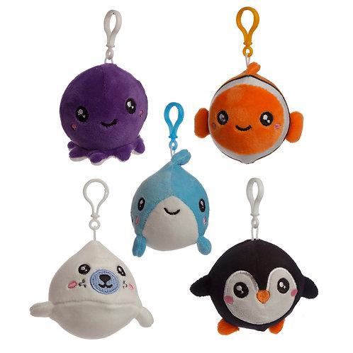 Squishy Cuddlies Cute Keyring - Sealife Novelty Gift