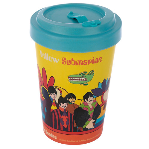 Bamboo Composite Yellow Submarine Screw Top Travel Mug Novelty Gift