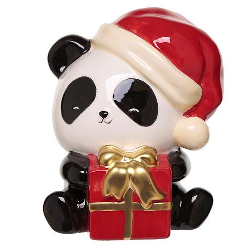 Collectable Ceramic Pandarama Christmas Money Box Novelty Gift