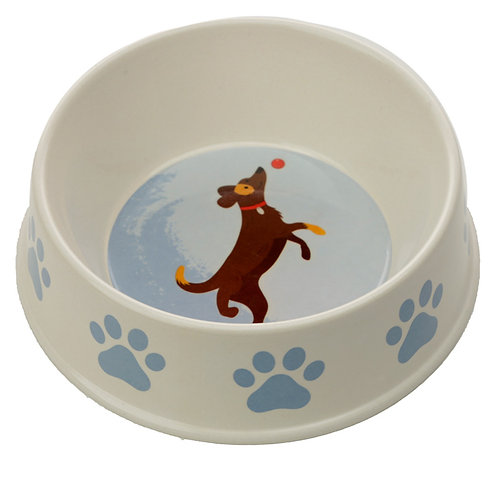 Bamboo Composite Catch Patch Dog Bowl Novelty Gift