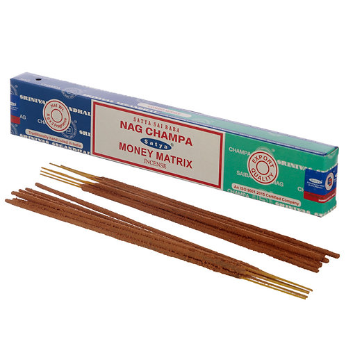 Satya Incense Sticks - Nag Champa & Money Matrix Novelty Gift