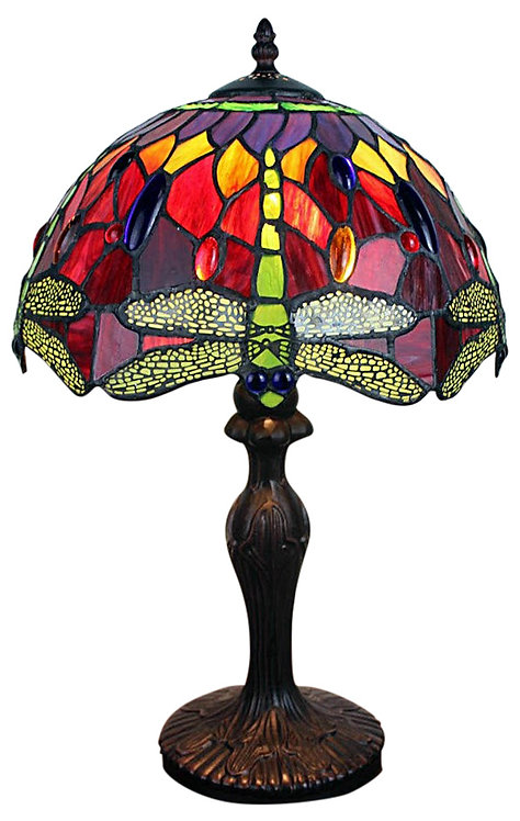 Red Dragonfly Tiffany Lamp 12 Shipping furniture UK