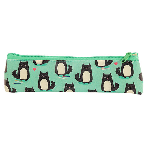 Fun Novelty Pencil Case - Cat Design Novelty Gift [Pack of 2]