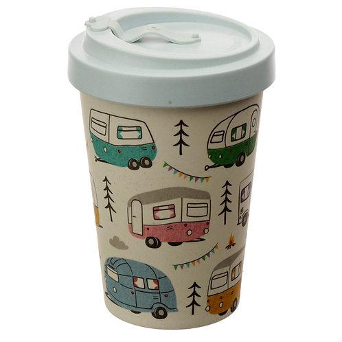 Bamboo Composite Wildwood Caravan Reusable Screw Top Travel Mug Novelty Gift