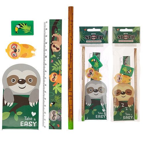 Cute Sloth Design Stationery Set Novelty Gift [Pack of 2]