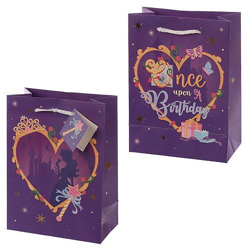 Happy Birthday Princess Design Medium Gift Bag Novelty Gift