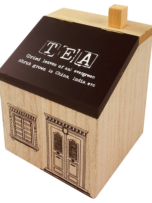 Wooden House Tea Caddy Shipping furniture UK