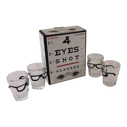 Set of 4 Eye Design Shot Glasses Shipping furniture UK