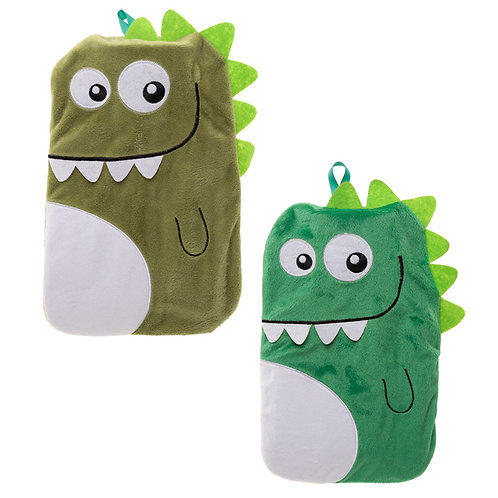 Cute Plush Dinosaur Design 1 Litre Hot Water Bottle and Cover Novelty Gift