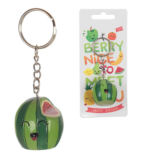 Novelty Gift Fun  Fruity Keyring - Watermelon