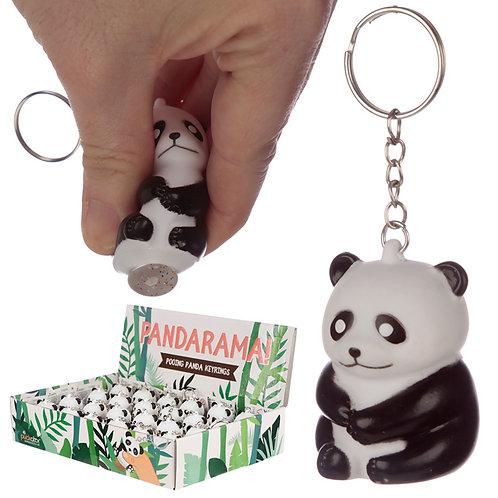 Novelty Collectable Pooping Panda Keyring Gift