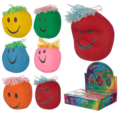 Fun Kids Squeezy Mood Head Novelty Gift