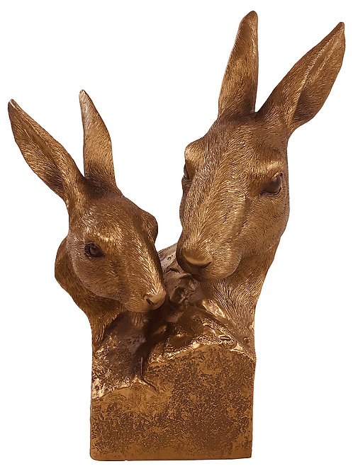 Reflections Bronzed Hare Bust 25cm Shipping furniture UK
