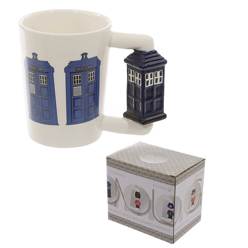 Novelty Ceramic Shaped Handle Police Box Mug Novelty Gift