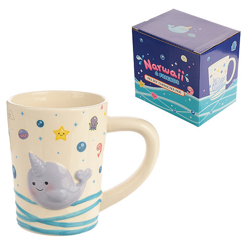 Cute Collectable Narwhal Ceramic Mug Novelty Gift