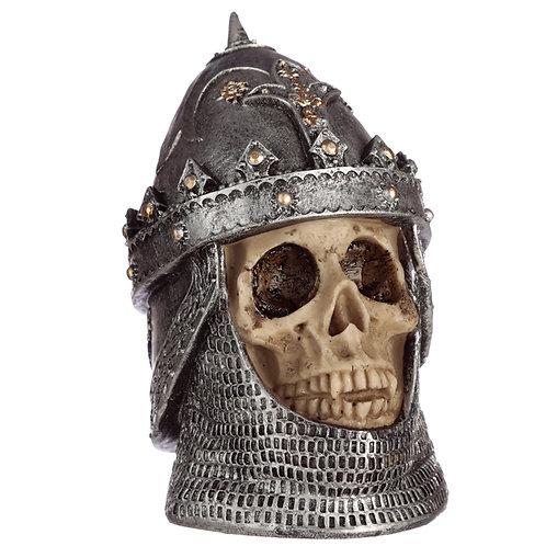 Gothic Skull in Saladin Helmet Ornament Novelty Gift